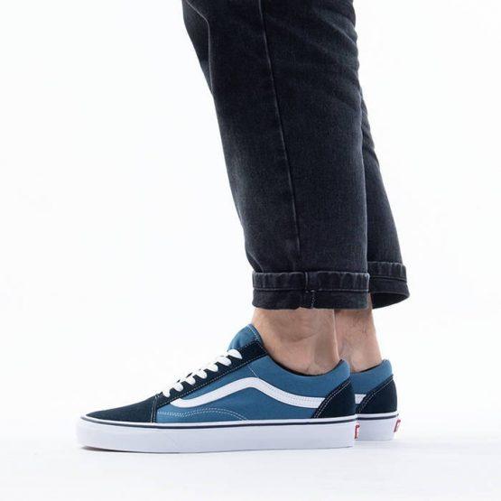 נעלי סניקרס ואנס לגברים Vans Old skool - שחור/כחול