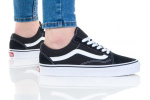 נעלי סניקרס ואנס לגברים Vans Old skool - לבן הדפס
