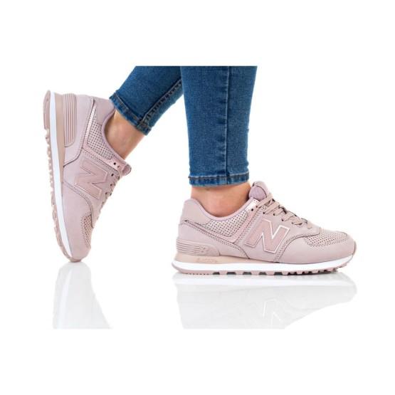 נעלי הליכה ניו באלאנס לנשים New Balance WL574 - ורוד בהיר