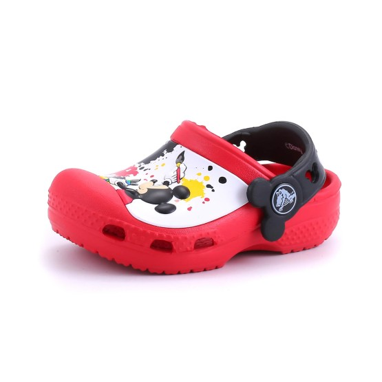 82de4d26ab3d45 כפכפים Crocs לפעוטות Crocs CC Mickey Paint Splatter Clog - אדום