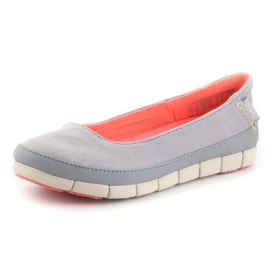 מוצרי Crocs לנשים Crocs Stretch Sole Flat W - אפור בהיר