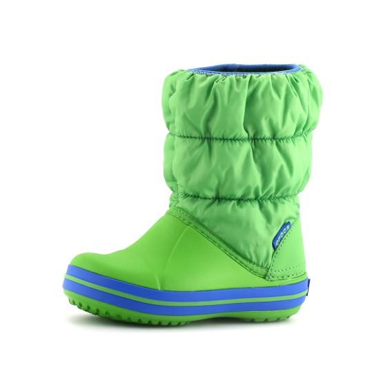 מוצרי Crocs לפעוטות Crocs Winter Puff Boot Kids - ירוק