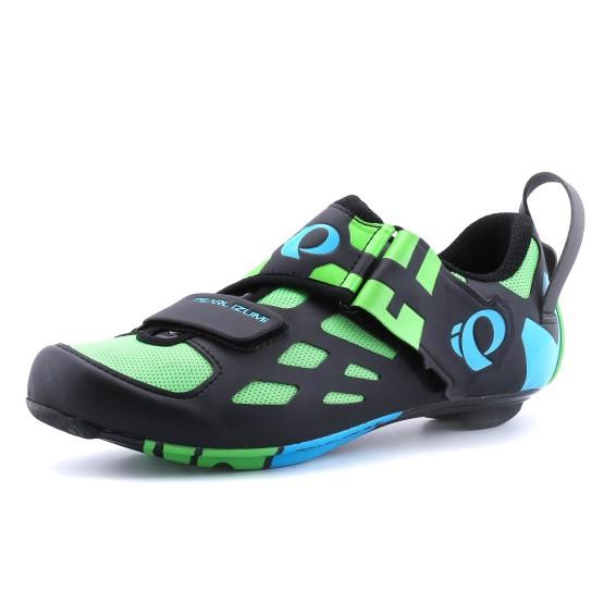 נעליים פרל איזומי לגברים Pearl Izumi Tri Fly Carbon - שחור/ירוק