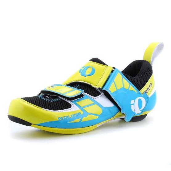 נעליים פרל איזומי לגברים Pearl Izumi Tri Fly Carbon - כחול/צהוב