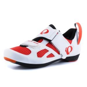 נעליים פרל איזומי לגברים Pearl Izumi Tri Fly - לבן/אדום