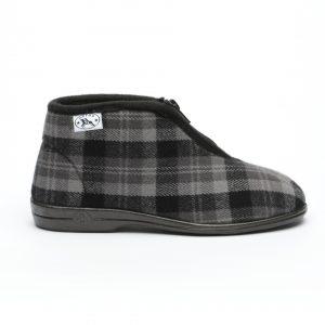 נעלי בית דפנה לגברים Dafna Noam - אפור כהה