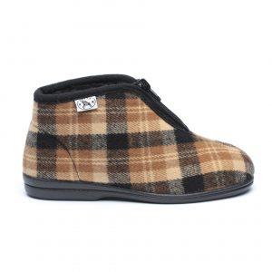 נעלי בית דפנה לגברים Dafna Noam - חום בהיר