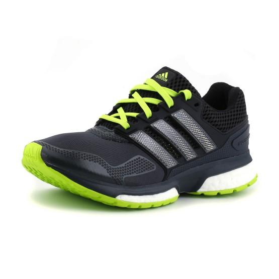 מוצרי אדידס לגברים Adidas Response Boost 2 Techfit - אפור כהה