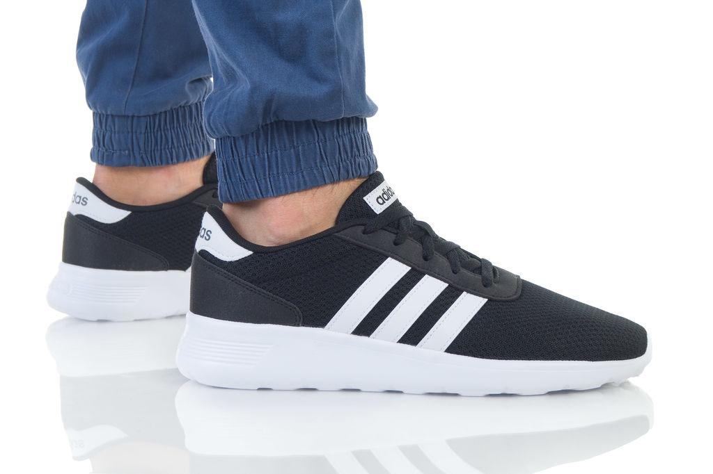 נעליים אדידס לגברים Adidas  Lite Racer - שחור/לבן