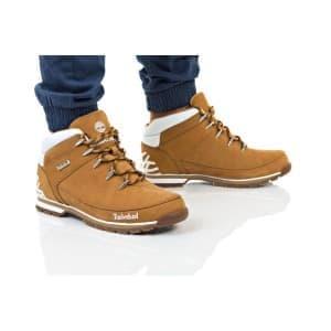 נעלי הליכה טימברלנד לגברים Timberland Euro Sprint Hiker - חום/לבן