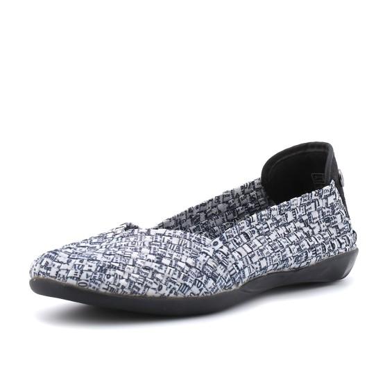 נעלי נוחות ברני מב לנשים Bernie Mev Catwalk - שחור/לבן