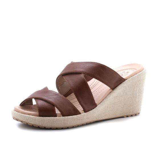 מוצרי Crocs לנשים Crocs A-leigh Crisscross Wedge - חום