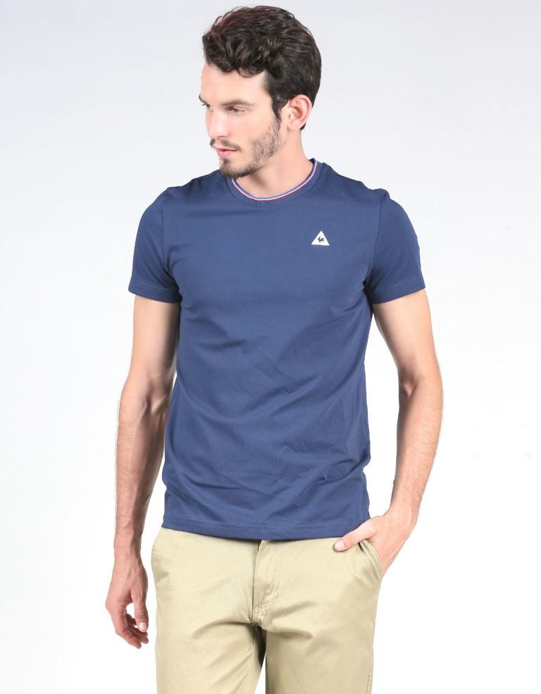 מוצרי לה קוק ספורטיף לגברים Le Coq Sportif Anglin Tee - כחול כהה