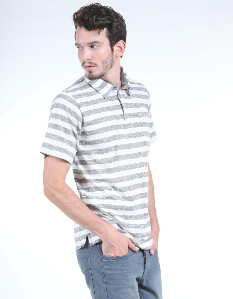מוצרי קולומביה לגברים Columbia Lookout Point Polo - לבן/אפור