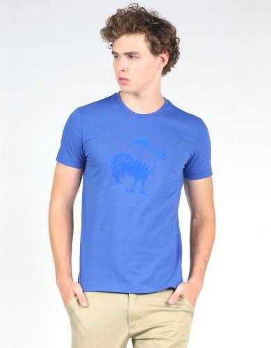 חולצות אופנה לה קוק ספורטיף לגברים Le Coq Sportif SMU Foot Tee N2 - כחול