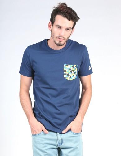 ביגוד לה קוק ספורטיף לגברים Le Coq Sportif SMU Graphic Pocket Tee - כחול כהה