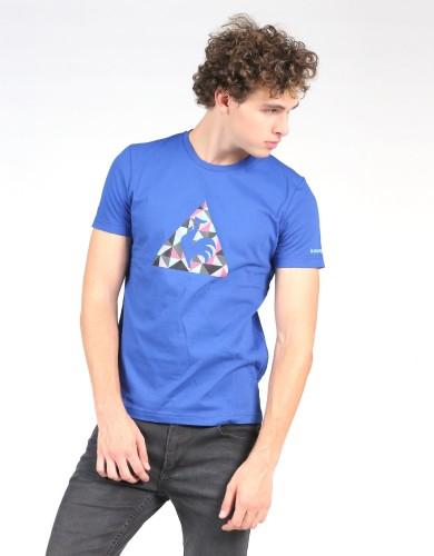 ביגוד לה קוק ספורטיף לגברים Le Coq Sportif SMU Jacquard Logo - כחול