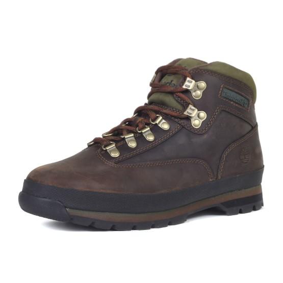 מגפיים טימברלנד לגברים Timberland Eurohiker Leather - חום כהה