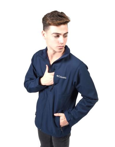 מוצרי קולומביה לגברים Columbia Ascender Softshell Jacket - כחול כהה