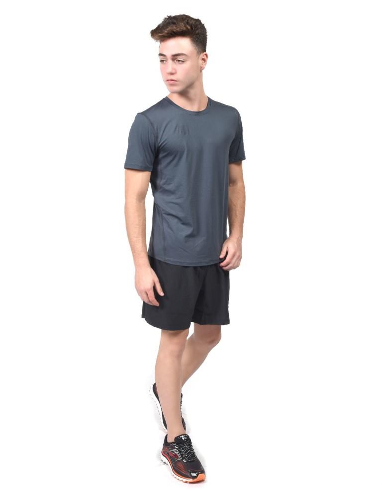 מוצרי ברוקס לגברים Brooks Steady Short Sleeve - אפור