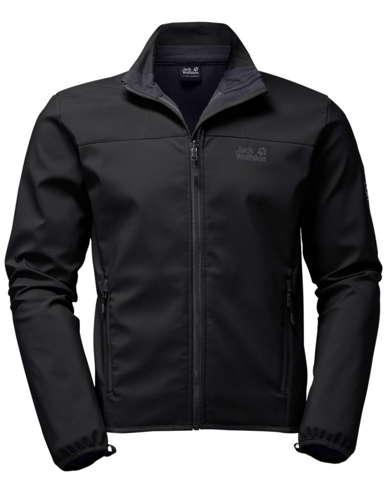 מוצרי Jack Wolfskin לגברים Jack Wolfskin Element Softshell Jacket - שחור