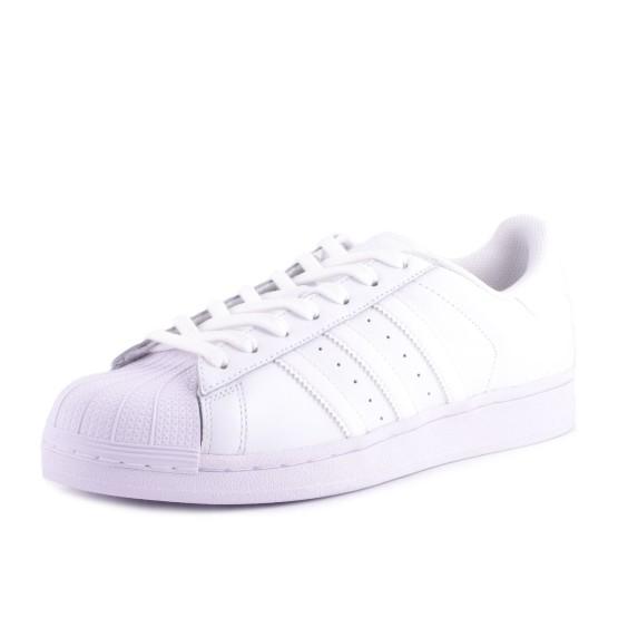 נעליים אדידס לנשים Adidas Superstar Foundation J - לבן מלא