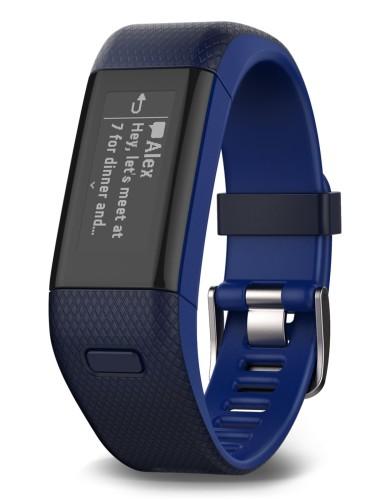 מוצרי גרמין לנשים Garmin Vivosmart HR Plus - כחול כהה