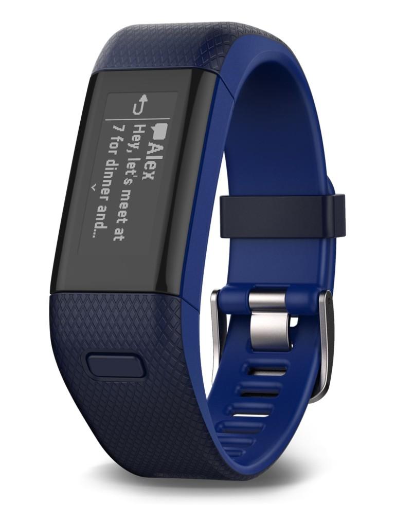 צמידי כושר גרמין לנשים Garmin Vivosmart HR Plus - כחול כהה