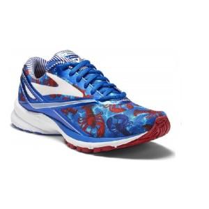 נעליים ברוקס לגברים Brooks Launch 4 - כחול/אדום
