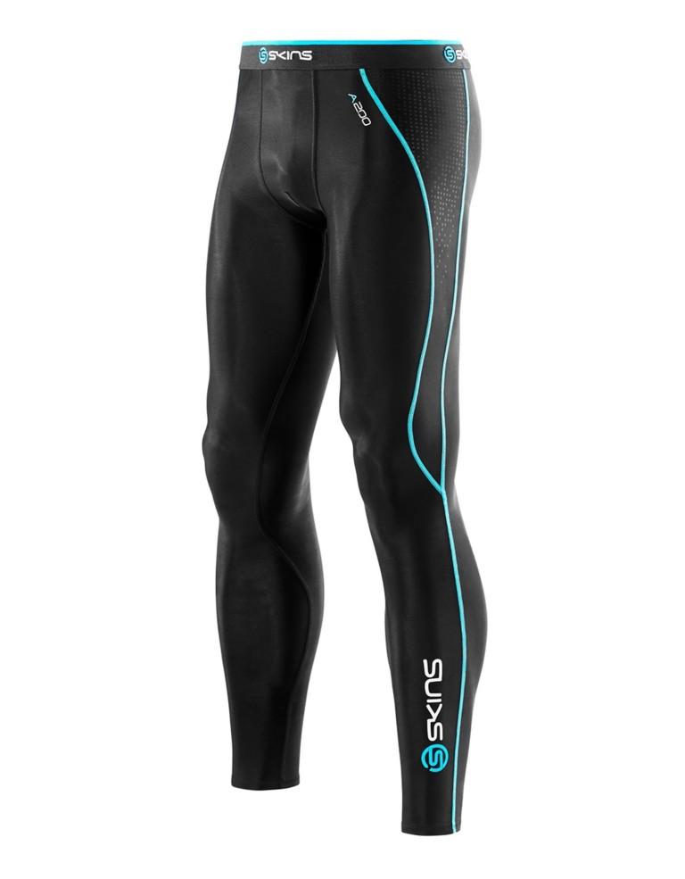 ביגוד Skins לגברים Skins A200 Long Tights - שחור/כחול