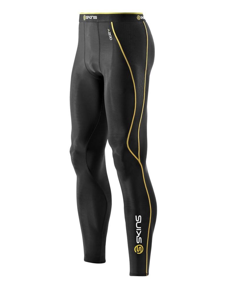 ביגוד Skins לגברים Skins A200 Long Tights - שחור/צהוב