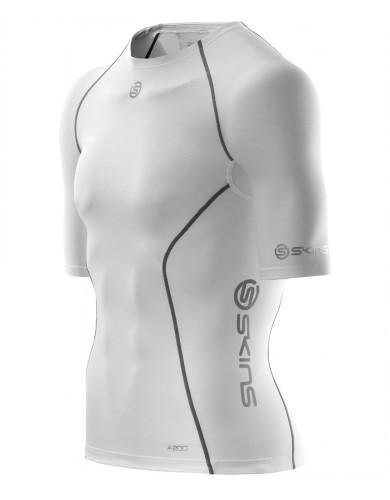 ביגוד Skins לגברים Skins A200 Short Sleeve Top - לבן