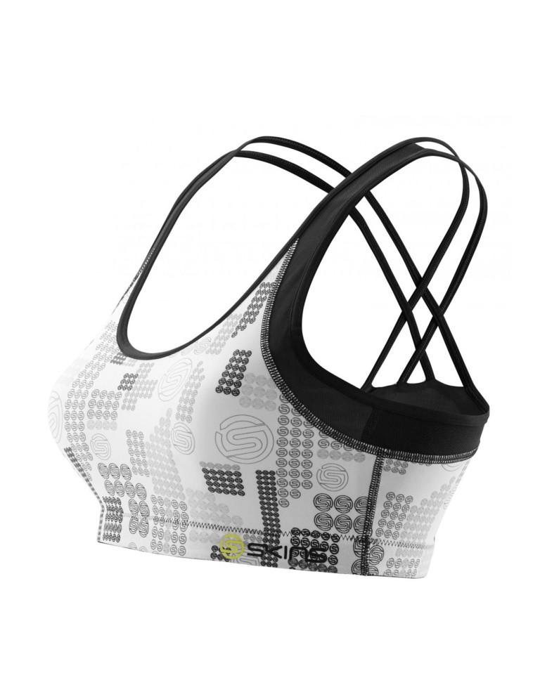 מוצרי Skins לנשים Skins A200 Speed Crop Top - שחור/לבן