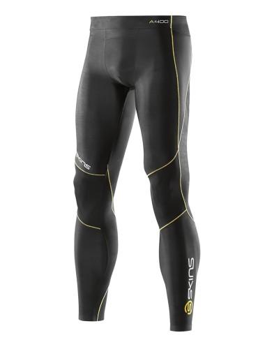 ביגוד Skins לגברים Skins A400 Long Tights - שחור/צהוב