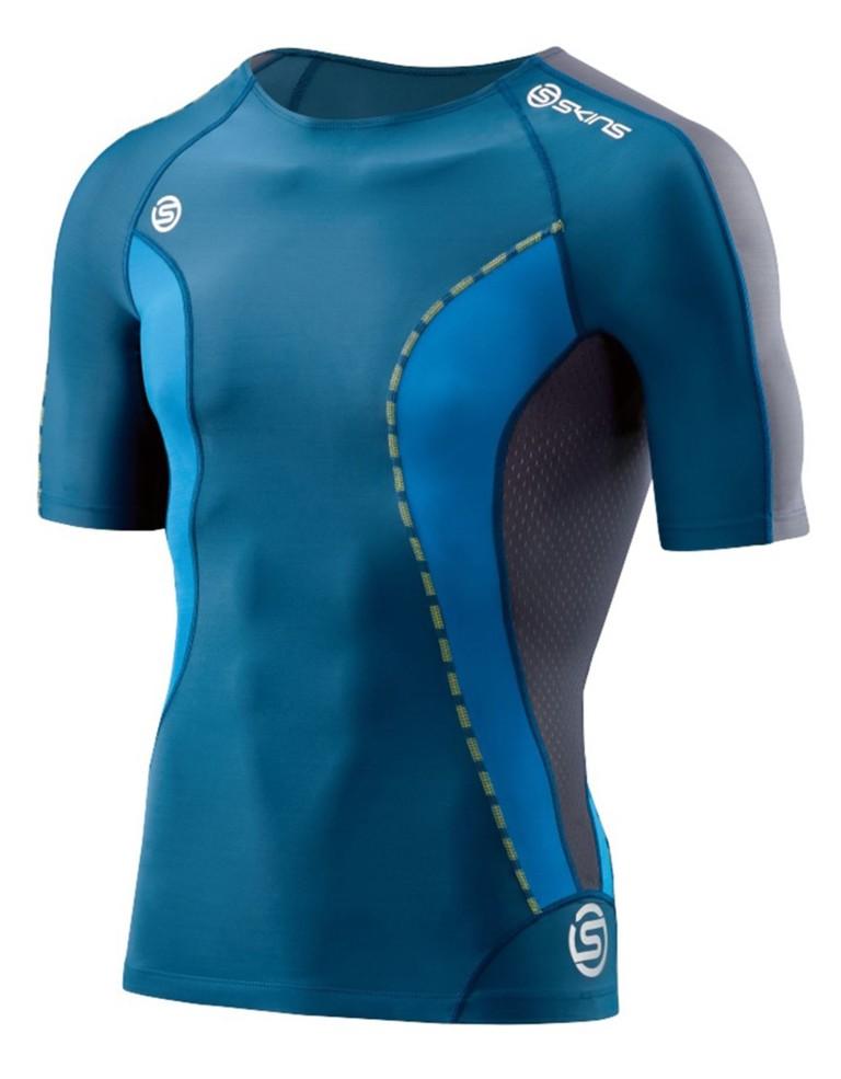 ביגוד Skins לגברים Skins DNAmic Short Sleeve Top - כחול