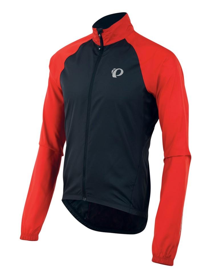 ביגוד פרל איזומי לגברים Pearl Izumi Elite Barrier Jacket - שחור/אדום