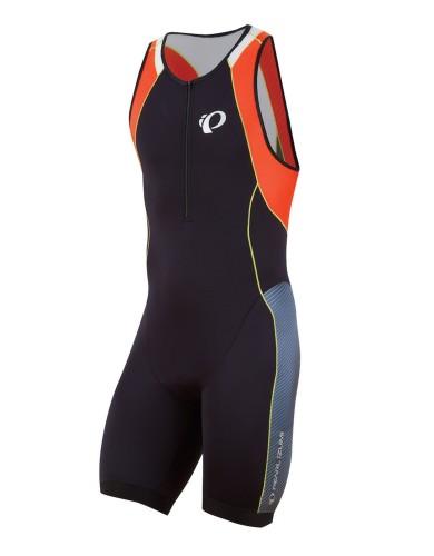 ביגוד פרל איזומי לגברים Pearl Izumi Elite InRCool Tri Suit - שחור/כתום