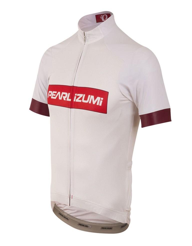 ביגוד פרל איזומי לגברים Pearl Izumi Elite Pursuit Summer Jersey - לבן/אדום