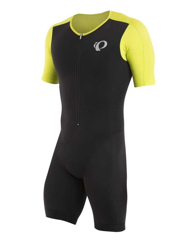 ביגוד פרל איזומי לגברים Pearl Izumi Elite Pursuit Tri Speed Suit - שחור/צהוב
