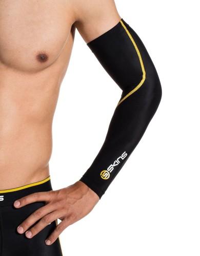ביגוד Skins לגברים Skins Essentials Compression Sleeves - שחור/צהוב