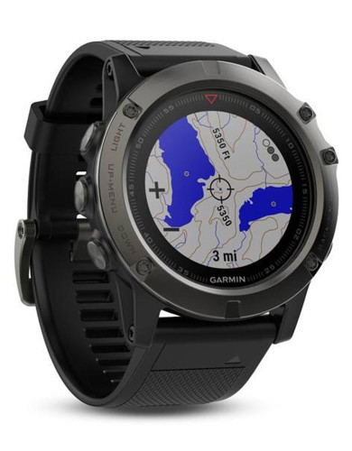 שעוני מולטי ספורט גרמין לנשים Garmin Fenix 5 - שחור