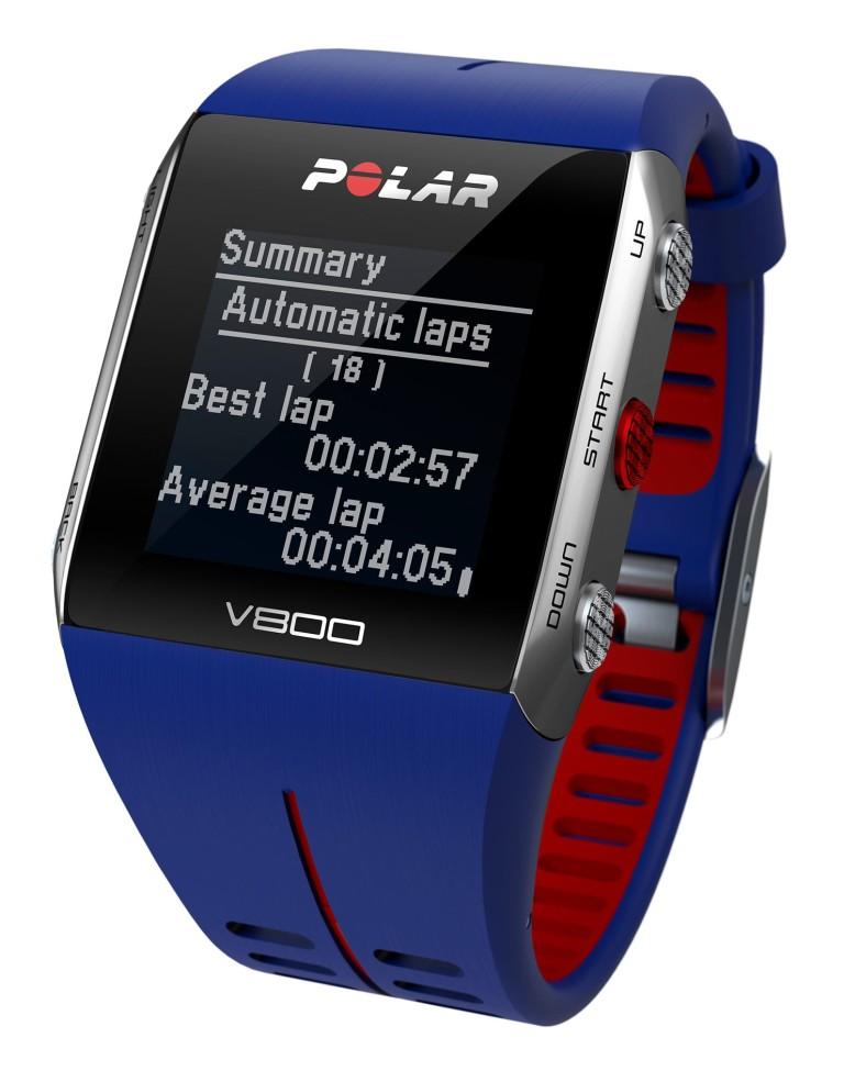 שעוני מולטי ספורט פולאר לנשים Polar V800 GPS - כחול