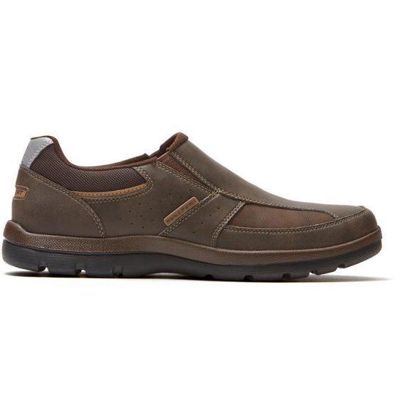נעלי קז'ואל רוקפורט לגברים Rockport Get Your Kicks Slip On - חום