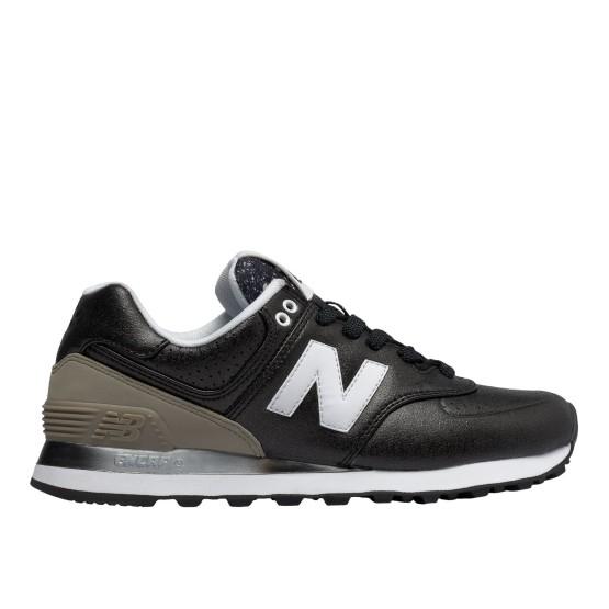 נעלי הליכה ניו באלאנס לנשים New Balance WL574 - עור שחור