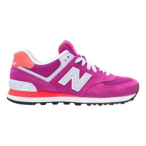 נעלי הליכה ניו באלאנס לנשים New Balance WL574 - לבן/ורוד