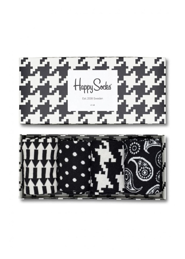 מוצרי Happy Socks לנשים Happy Socks Black and White Gift Box - שחור/לבן