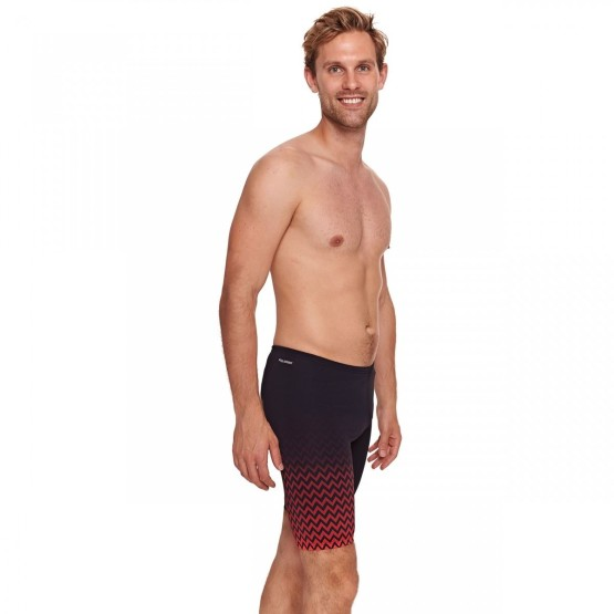 בגדי ים זוגס לגברים Zoggs Chevron Jammer - שחור/אדום