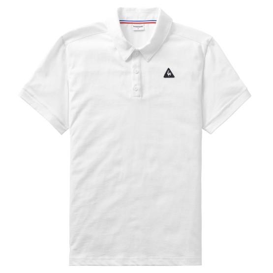 מוצרי לה קוק ספורטיף לגברים Le Coq Sportif Essential Polo - לבן