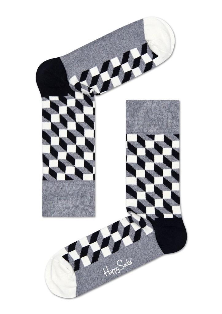 מוצרי Happy Socks לנשים Happy Socks Filled Optic - אפור