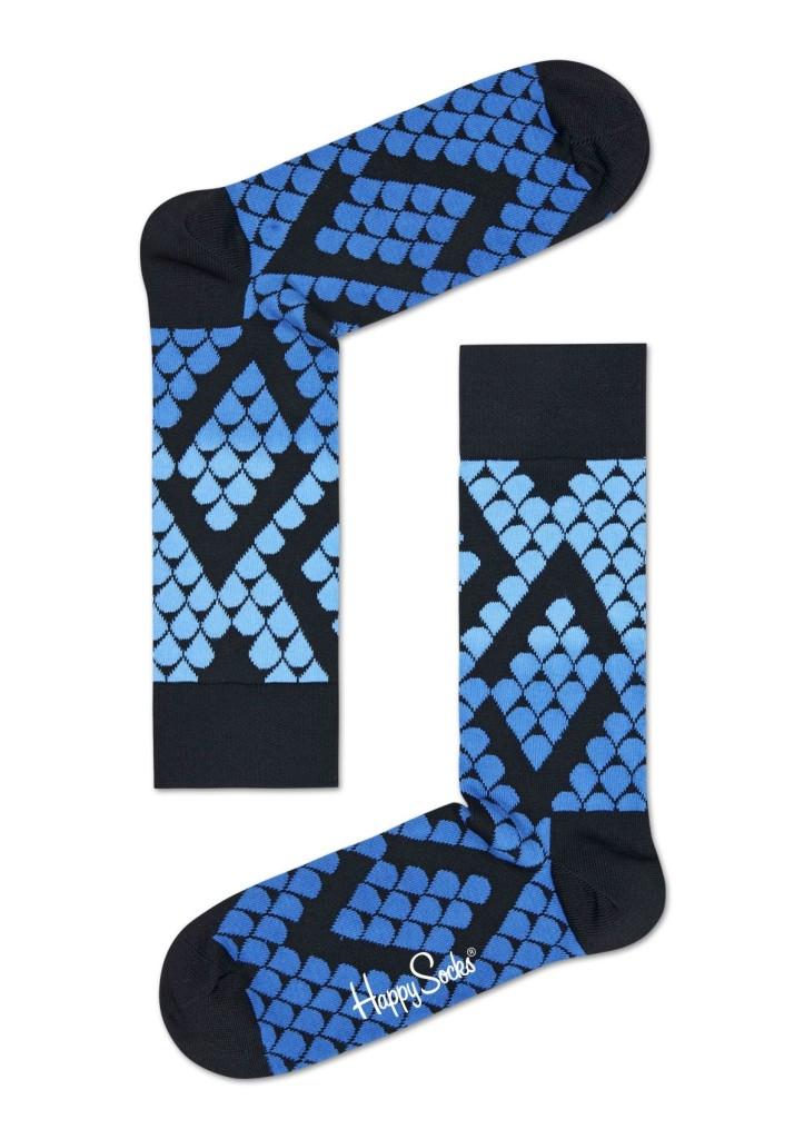 מוצרי Happy Socks לנשים Happy Socks Faded Snake - שחור/כחול